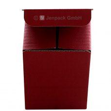 Tassenverpackung rot, Frontansicht