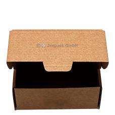 Klappdeckelkarton 203x172x88 mm, braun, Frontansicht