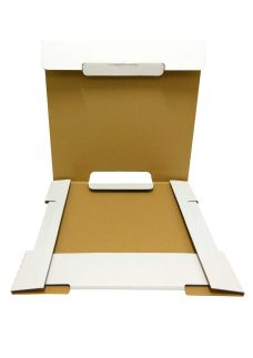 Kalenderverpackung, weiß, geöffnet