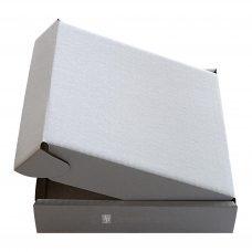 Maxibrief, einwellig, weiß, Seitenansicht
