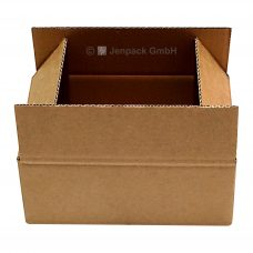 Karton, Faltschachtel 440x185x75 mm, braun, Seitenansicht