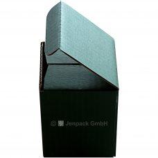 Tassenverpackung grün, Seitenansicht