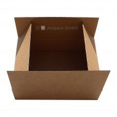 Versandkarton, 440x290x135 mm, braun, Seitenansicht